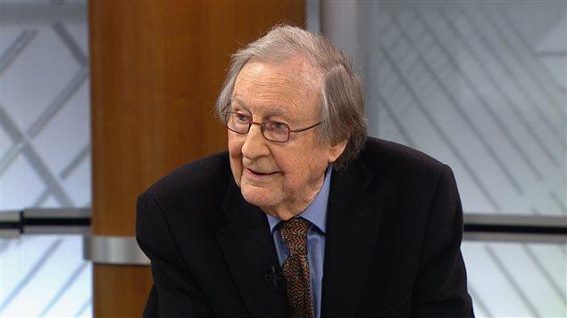 Le sociologue Guy Rocher en entrevue à Radio-Canada en janvier 2014
