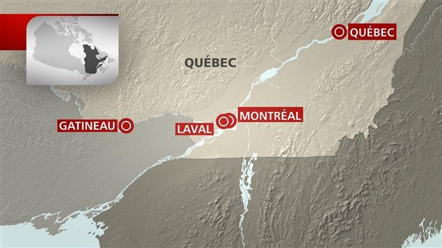 L'opération polcière Clemenza s'étend sur une bonne partie du Québec.