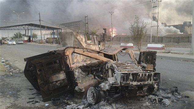 La chute de Mossoul mardi a �t� un dur coup pour les autorit�s irakiennes.