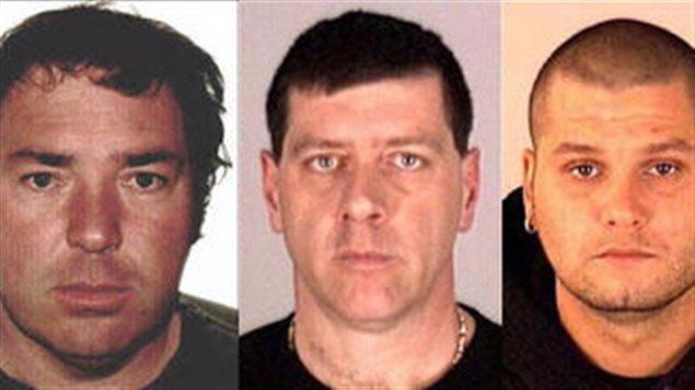 Les trois fugitifs, Serge Pomerleau, Denis Lefebvre et Yves Denis
