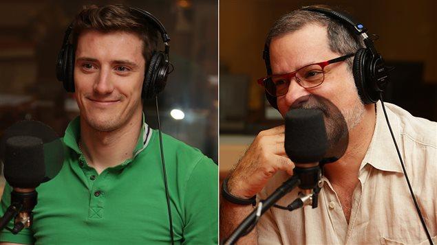 Les comédiens Frédéric Millaire Zouvi et Alain Zouvi