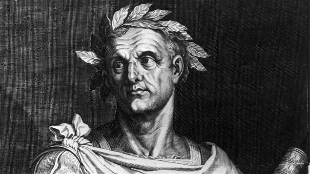 Gravure de l'empereur Jules César, vers 50 av. J.-C.