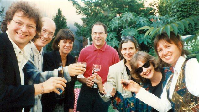 L'équipe de Bonsoir l'ambiance, le 25 août 1995