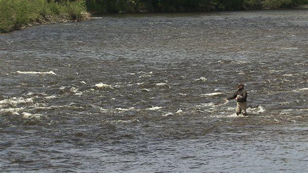 Un pêcheur dans la rivière York