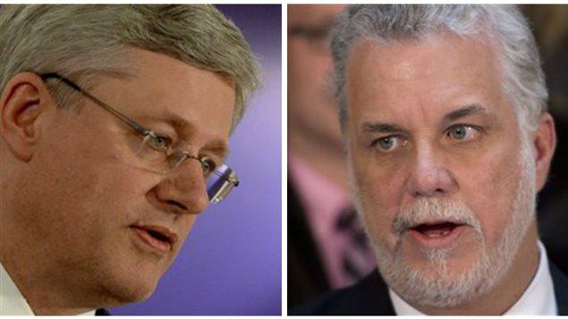 Stephen Harper et Philippe Couillard
