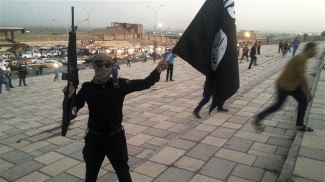 Un combattant de l'État islamique en Irak et au Levant