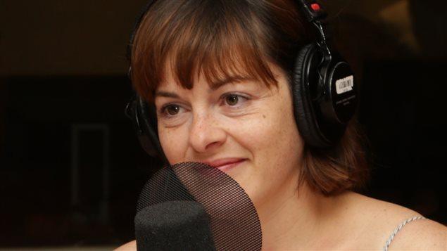 La comédienne Sophie Cadieux