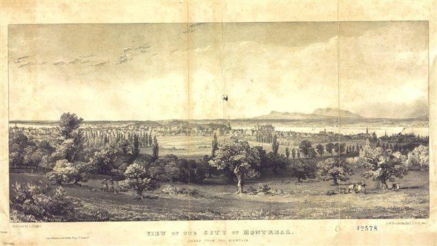 Vue de Montréal, vers 1840