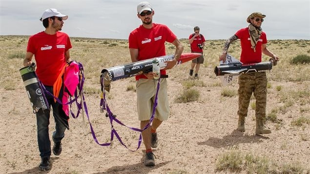 L'équipe Oronos de l'école Polytechnique de Montréal dans le désert en Utah