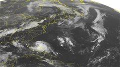 Image satellite de la tempête Arthur