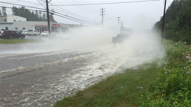 La tempête Arthur a causé des inondations dans la régions de Saint-Jean, au Nouveau-Brunswick.