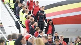 Bain de foule royal pour les joueurs belges à Bruxelles