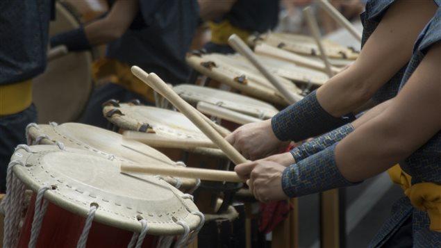 Taïkos japonais à l'honneur au Festival International de Percussions de Longueuil cette année