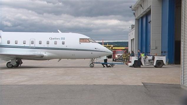 L'avion s'est finalement posé sans problème à l'aéroport Jean-Lesage.