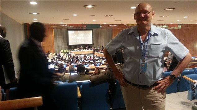 Le directeur de la Chaire en écoconseil, Claude Villeneuve, au siège des Nations Unies à New York