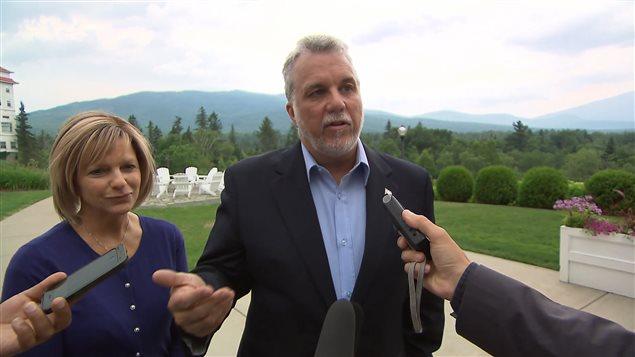 Le premier ministre du Québec, Philippe Couillard, au New Hampshire