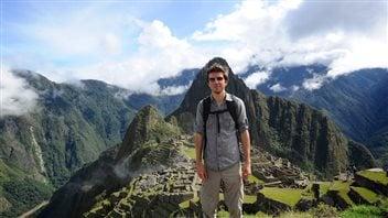 LP Maurice, passionné de voyage, dans les Andes