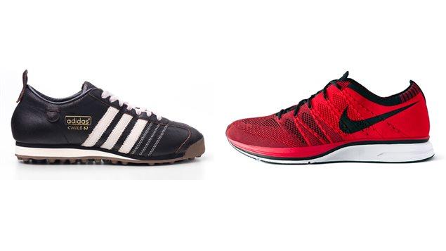 La guerre est ouverte entre les marques de chaussures Adidas et Nike.