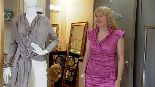 Diane Bergeron est non-voyante, mais passionnée de mode