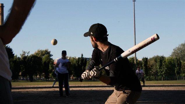 Match de la Ligue de baseball littéraire.
