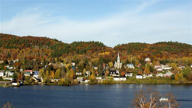 Un village de campagne au Québec