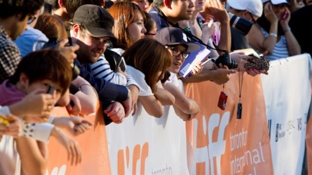 Toronto crowds line-up along a red carpet event at TIFF