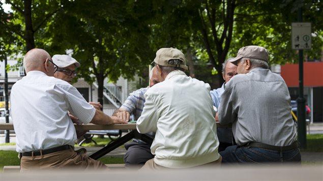 Personnes âgées parc