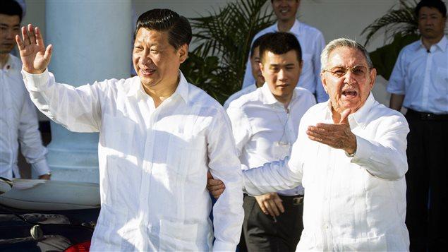 Les présidents chinois et cubains Xi Jinping et Raul Castro à Cuba, le 23 juillet dernier.