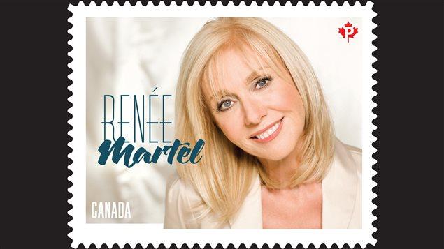 Postes Canada a émis un timbre à l'effigie de la chanteuse country Renée Martel.