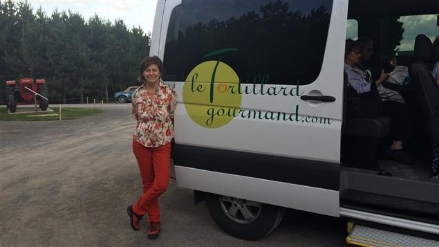Le Tortillard gourmand et sa conductrice, Marie-José Le Blanc