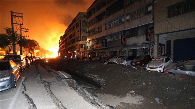 Explosion à Taipei