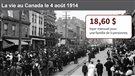 La vie au Canada le 4 août 1914