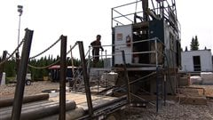 Installations de Pétrolia sur l'île d'Anticosti