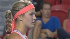 La Montréalaise Eugénie Bouchard a été éliminée dès son premier match au tournoi de tennis de la Coupe Rogers