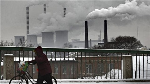 Une centrale au charbon dans une ville de Chine
