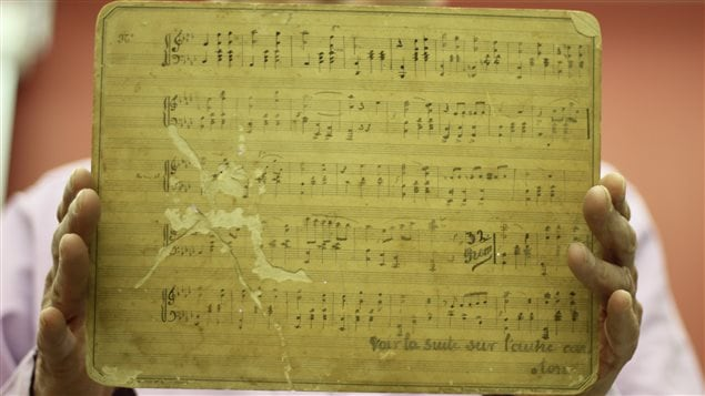 Une pièce de 1890, Valse mignonne pour piano, l'un des plus beaux documents original que possède la Société de recherche et de diffusion de la musique haïtienne. En tout, plus de 800 oeuvres y sont répertoriées.
