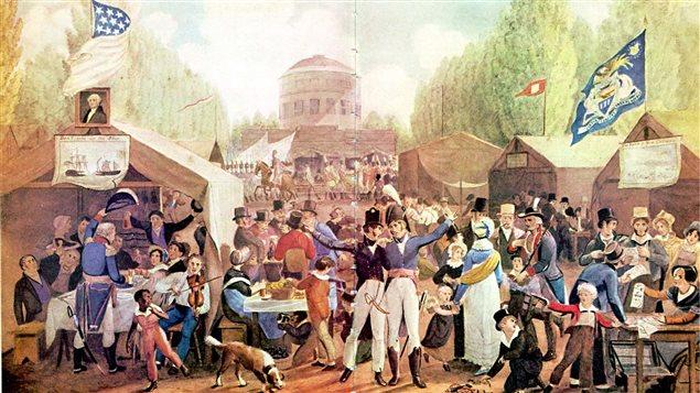 Fête du 4 juillet à Philadelphie en juillet 1819