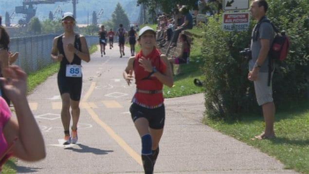 Le triathlon s'est déroulé dans l'arrondissement de La Baie