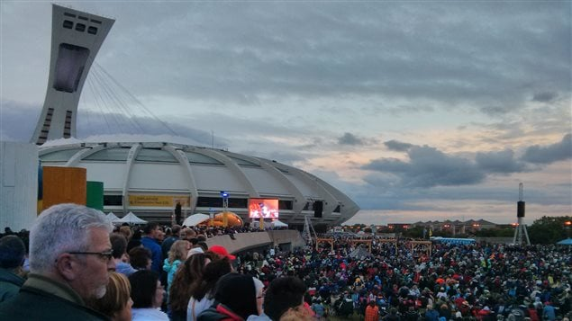 The Esplanade was full and the weather cooperated providing Montrealers with a wonderful performance of Carmina Burana