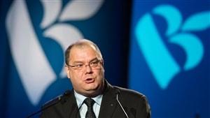 Mario Beaulieu lors de son élection à la tête du Bloc québécois, en juin 2014.