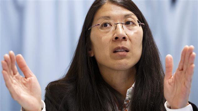 La Dre Joanne Liu à une conférence en Suisse (février 2014)