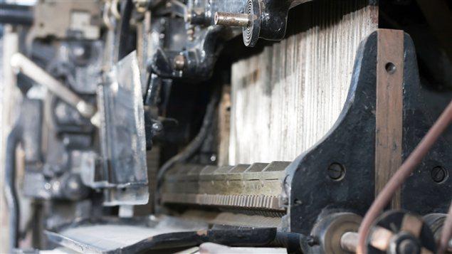 Machinerie lourde d'un autre siècle pour l'impression