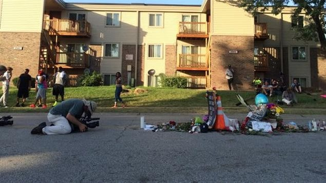 L'endroit où Michael Brown a été tué à Ferguson, au Missouri