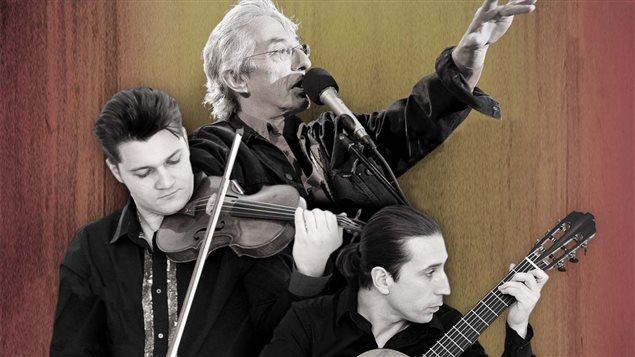 « Soleil d'Espagne », un concert littéraire rythmé par la poésie de Federico García Lorca, avec Richard Desjardins (narration), Alexandre Da Costa (violon) et Alexandre Éthier (guitare).