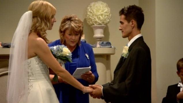 Megan Wolfe a vécu une journée de bonheur, jeudi, tandis qu'elle épousait l'homme de sa vie, Josh Melnyk