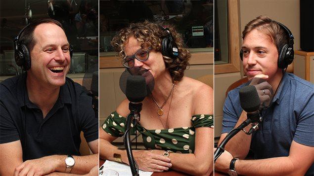 Jean-François Nadeau, Monique Polak et Pierre-Luc Brisson participent à une discussion sur ce que devraient lire les adolescents à l'école.