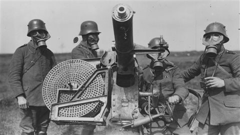 Soldats allemands lors de la Première Guerre mondiale.
