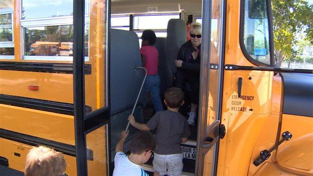 Autobus à la rentrée scolaire