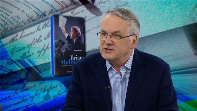 Guy Gendron, en entrevue lors du lancement de la biographie qu'il a consacré à l'ex-premier ministre canadien Brian Mulroney