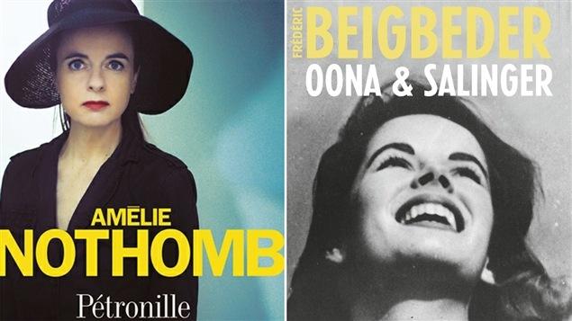 Les couvertures des livres d'Amélie Nothomb et de Frédéric Beigbeder
